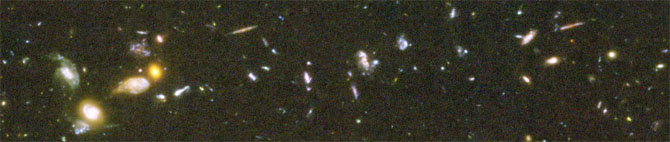 Part of the Hubble ultra-deep field - is this consistent with the Big Bang Theory?